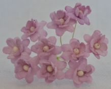 PALE LILAC CHERRY BLOSSOM Mulberry Paper Flowers